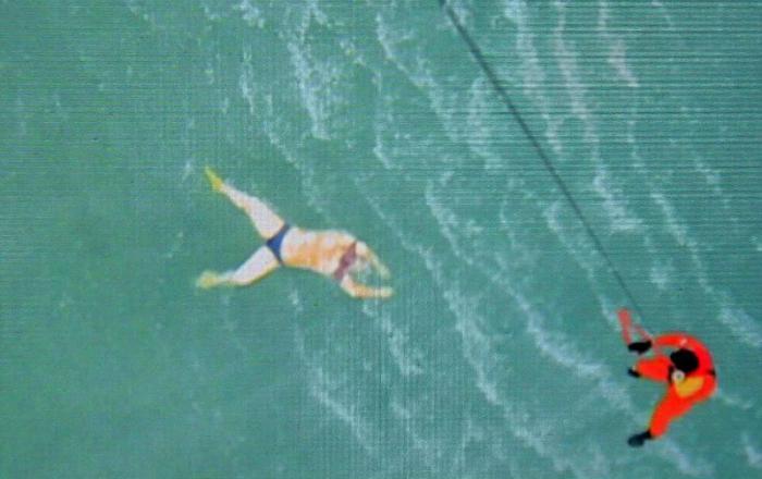 AirAsia Flight 8501 victim floats in the Java Sea.