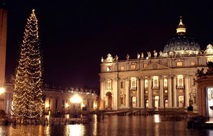 The Vatican's Christmas tree is also known as Saint Peter's Christmas Tree.