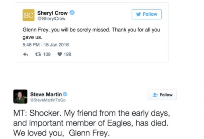 Love for Frey came pouring in over social media platforms.