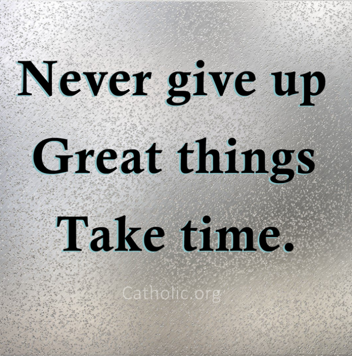 never give up how to achieve it