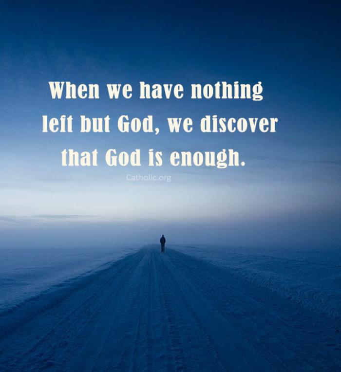 God is enough