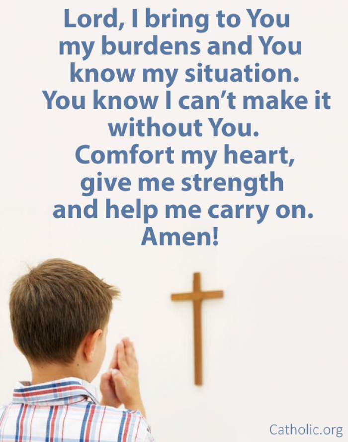Help me carry on, Lord