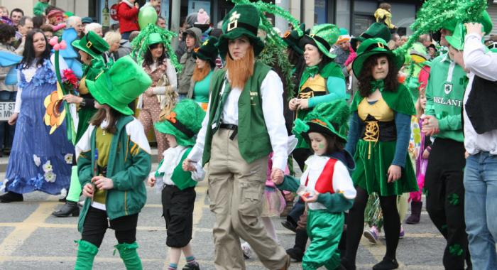 St. Patrick's Day parade in Boston.