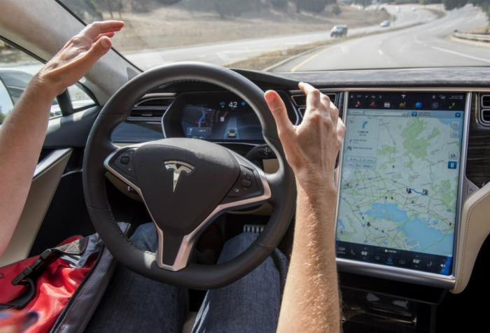 The Tesla Model 3 is expected to get an autonomous driving mode which will allow drivers to take their hands off the wheel while cruising on the freeway.