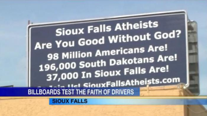 Atheist billboards call out the religious.