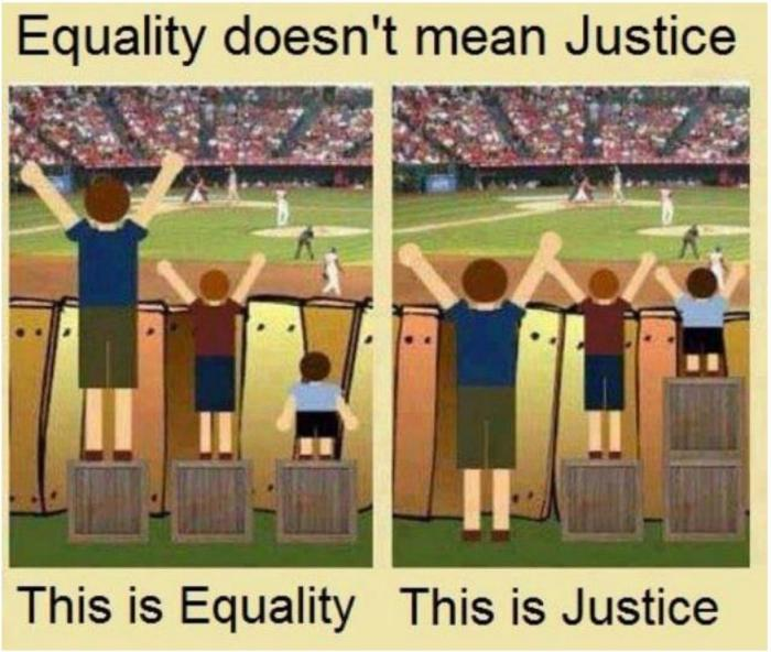 Equality versus justice
