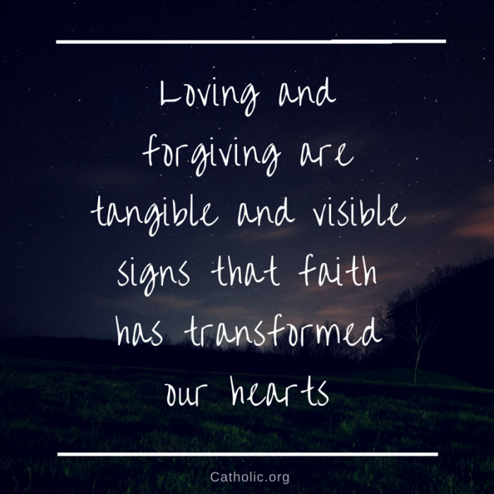 Loving and forgiving
