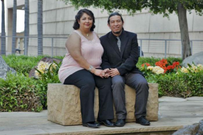 Deacon Tomas Garcia with his wife, Sylvia.