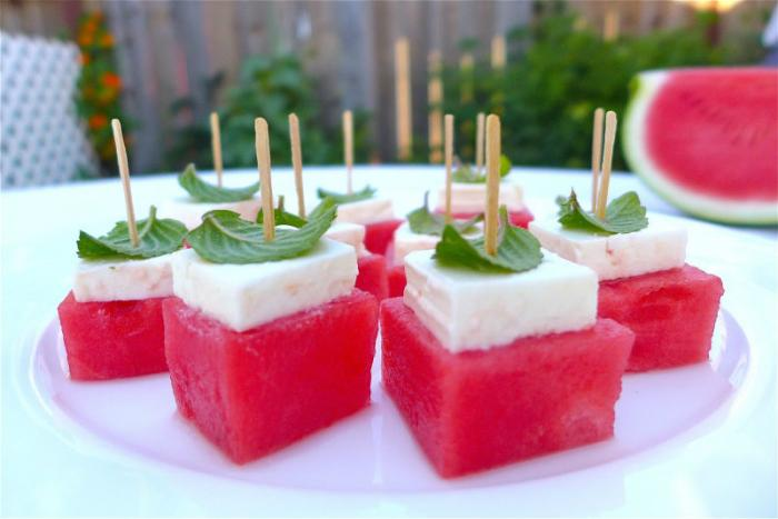 Watermelon Feta Bites.