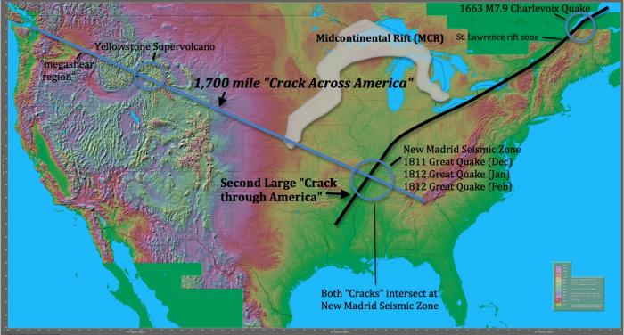 Scientists Found A Mile Crack Across The USA Heres What - Map of us 1700