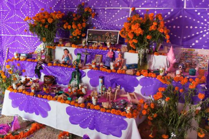 Remember loved ones with a Dia de los Muertos alter this year.