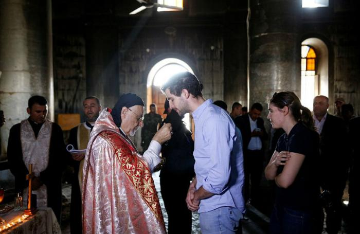 Iraqi priests came together to celebrate at the Grand Immaculate Church.