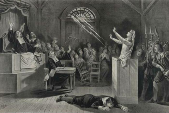 Representation of the Salem witch trials.