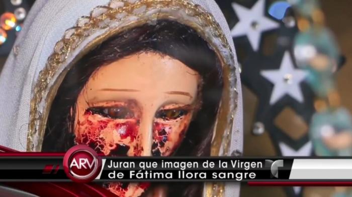 The shocking sight was filmed by a Mexican news crew at an undisclosed church.