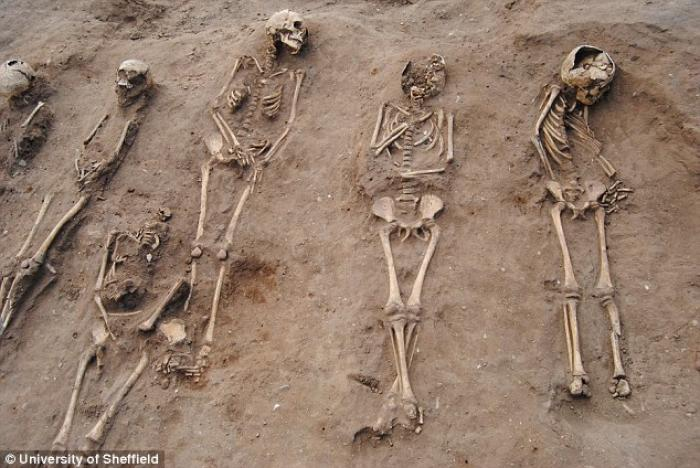 The grave dates back to 1349, when the Black Death ravaged the area.