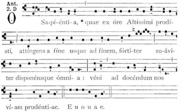 O Sapienta - music notes