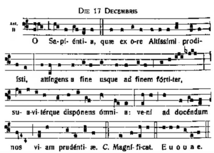 O Sapienta 2 - music notes