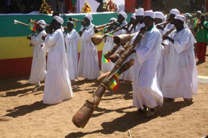 Gumuz people in traditional dress.