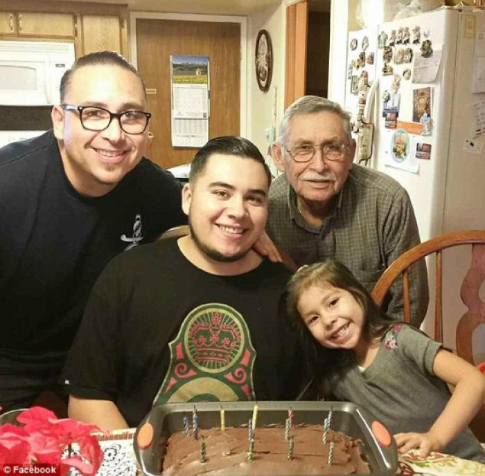 Francisco Serna with his family. The 73-year-old retiree had shown signs of dementia.