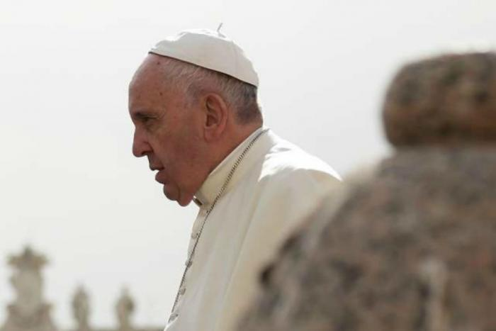 Pope Francis at the general audience in St. Peter