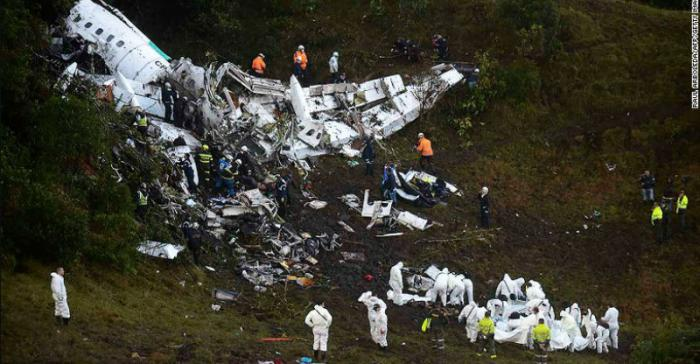 Championship Brazilian soccer team plane crash