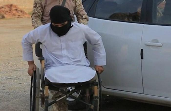 A wheelchair-bound Jihad was interviewed before carrying out a suicide attack in Mosul.