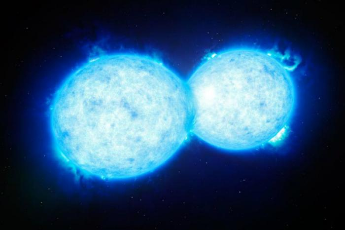 KIC 9832227 is a contact binary, meaning it is actually two stars that orbit one another so close, their atmospheres touch. The pair would look like a peanut rather than two stars.