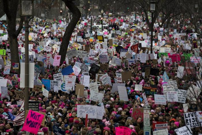 500,000 people were in attendance at the Women's March on Washington