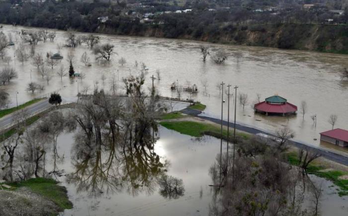 A park near Oroville flooded by the failed dam.