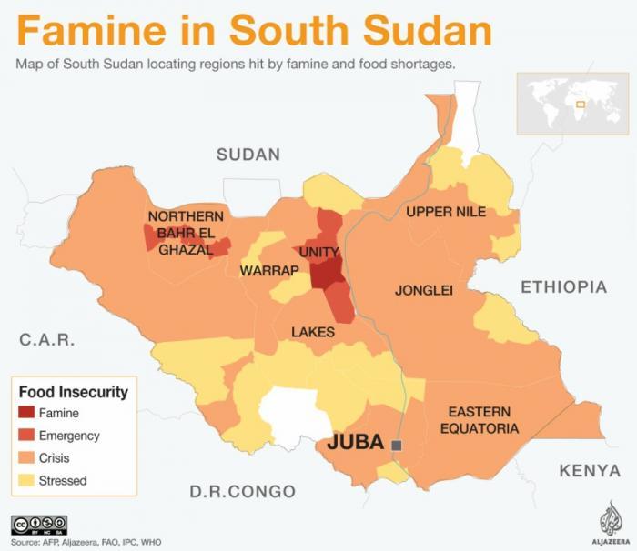Famine in South Sudan.