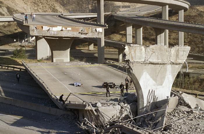 The quake is likely to move the ground enough to cause catastrophic damage to freeways and other infrastructure. The Northridge quake caused 8 inches of displacement. The coming quake will cause an average of 9 feet displacement.