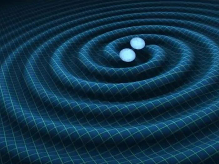 Gravitational waves are thought to be caused by interactions between black holes. These waves can propel other objects through space.