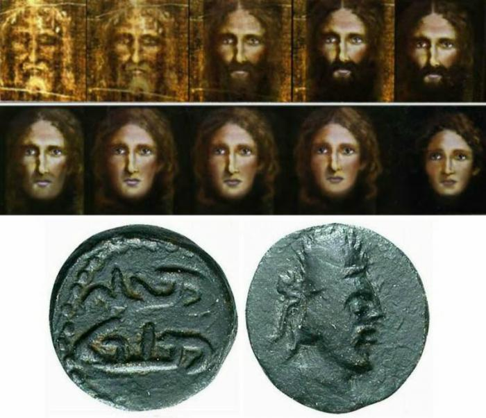 Does this coin depict an accurate portrait of Jesus Christ?
