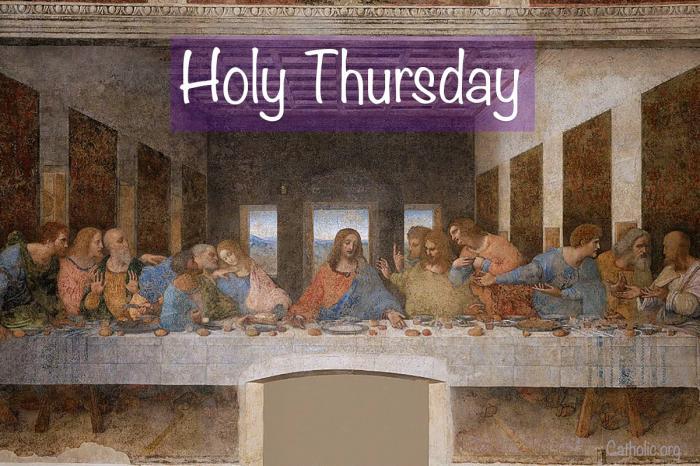 'Living Lent': Holy Thursday