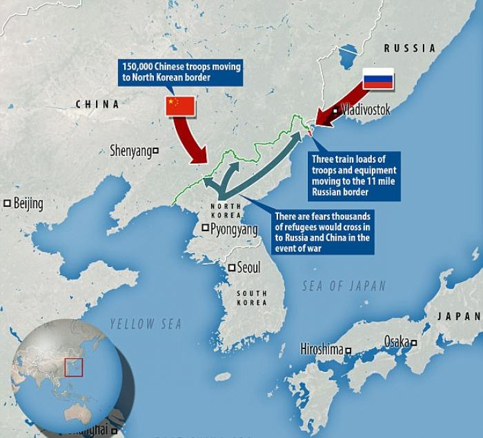 Both China and Russia have deployed troops on the border. Such a deployment tells the North to take the USA seriously.