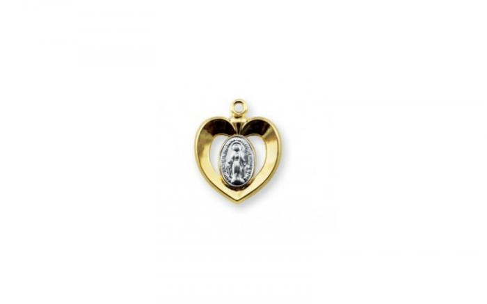 Two-toned Sterling Silver Miraculous Medal.