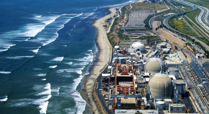 The San Onofre nuclear power plant is situated along the pristine California coasline, north of San Diego.
