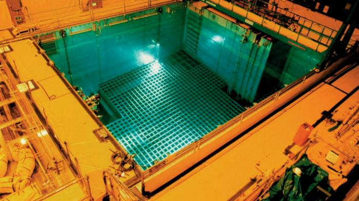 Spent fuel rods are kept in a submerged pool that keeps them cooled off. Eventually they will be transferred to a new facility. What to do with the fuel is a long term problem of utmost concern for future generations.