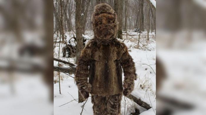 Gaowain MacGregor says he is the person in the video. He wears a suit of fur as part of a shamanistic ritual.