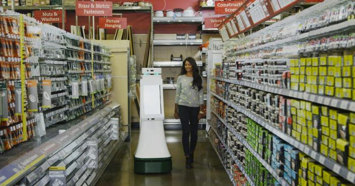 Lowes is testing a robot that can roam the aisles and assist customers.