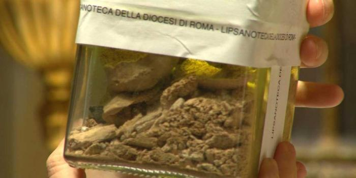 Bone fragments from the jars have been sent for study at the Vatican.