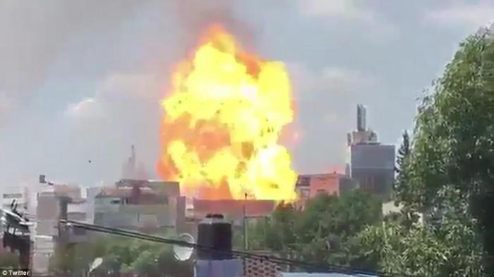 Broken fuel lines caused at least one loud explosion that was captured on video.