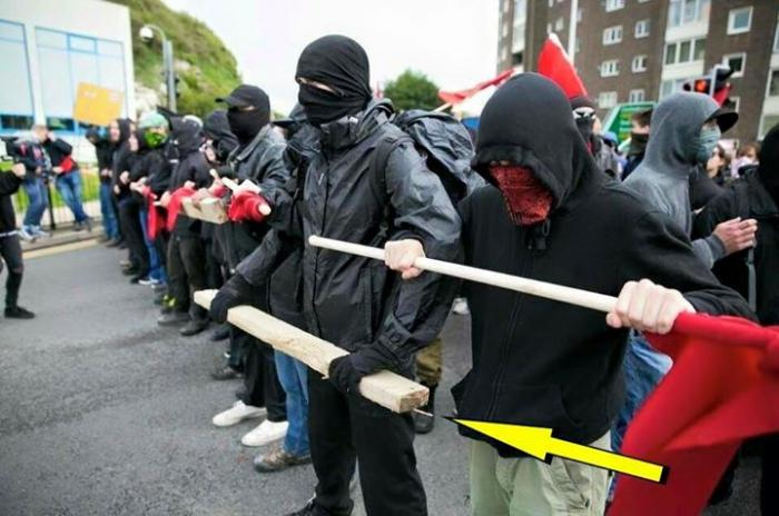 ANTIFA members are often armed, even if in subtle ways. Their goal is to do harm, without being caught.
