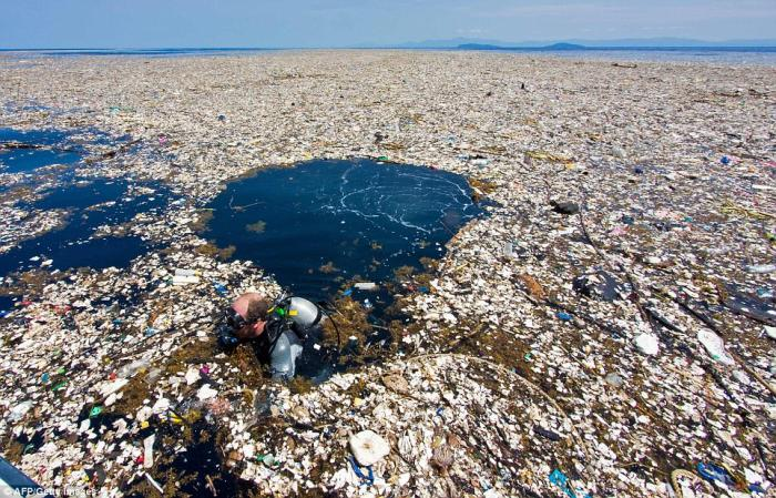 The garbage patches span for miles and are growing.