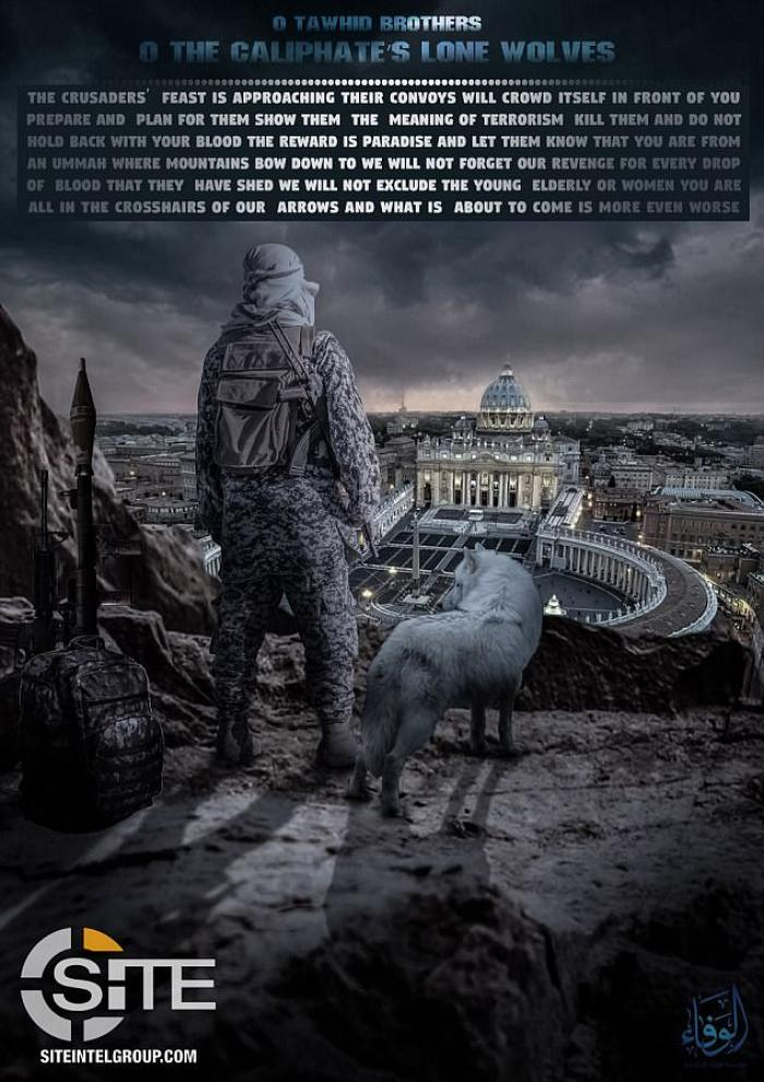 Lone Wolf attack on the Vatican poster
