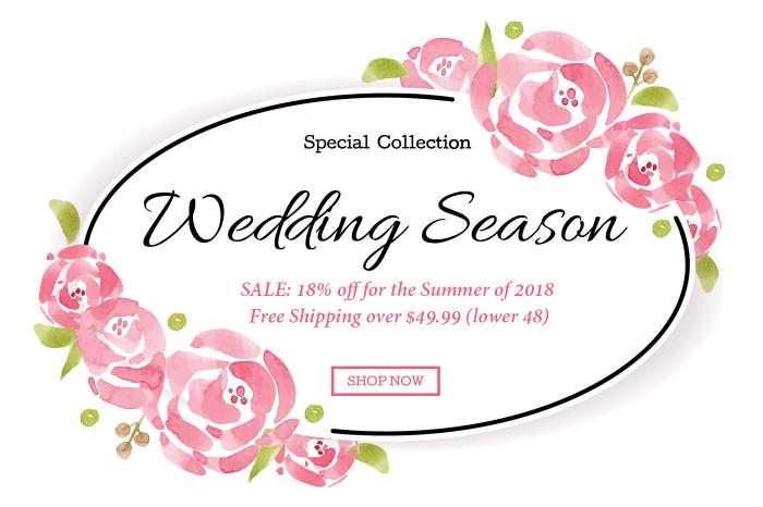 Homepage Carousel - Wedding Season 2018 - 18% Off