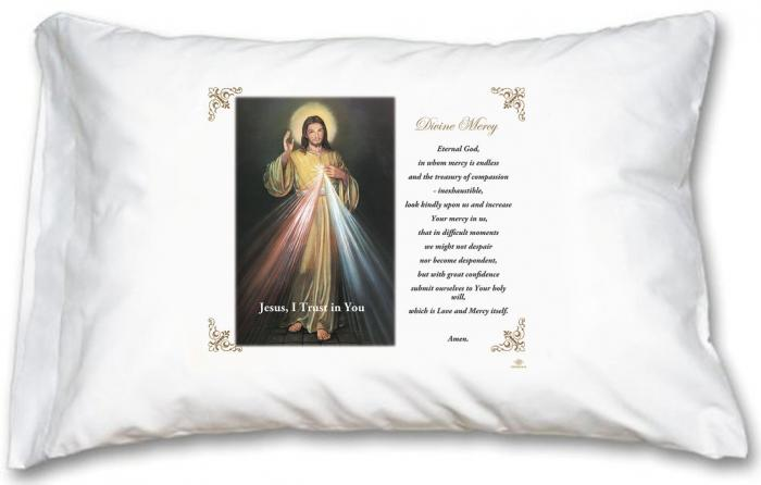 Prayer Pillow Cases: Divine Mercy Pillow Case