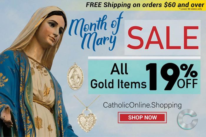 Gold Sale - Month of Mary - 19% Off - May Sale