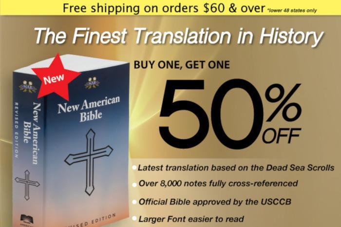 CS - June 2019 - BOGO Bible - Buy one Get one 50% Off - New American Bible