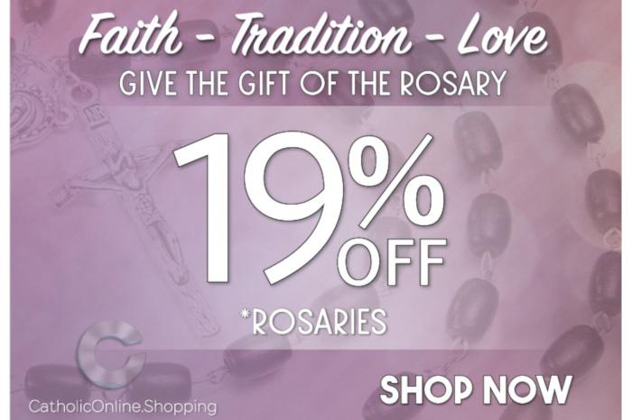 Catholic Online Shopping - July 2019 - 19% Off Rosary Collection Sale